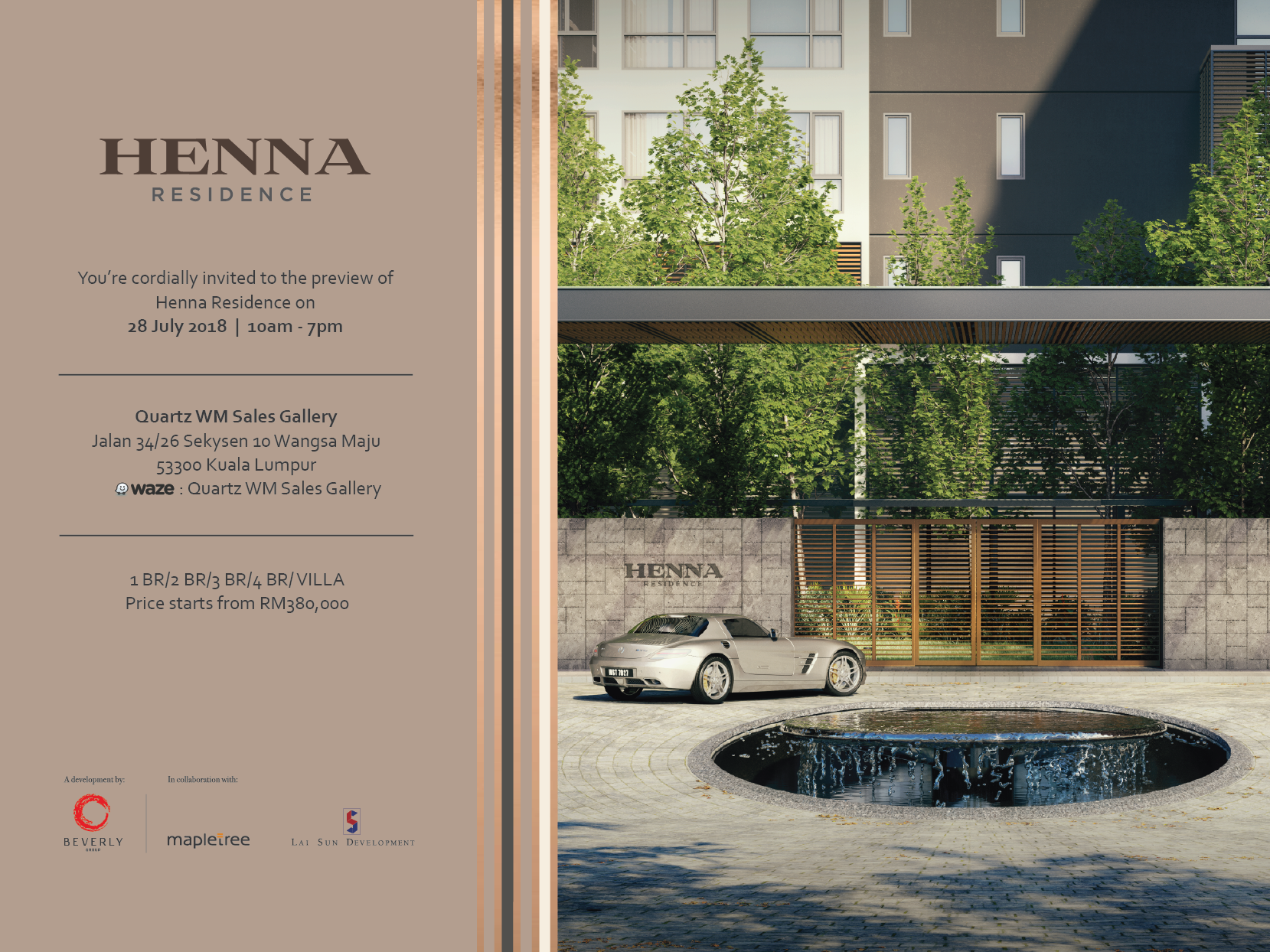 Unveilling Henna Residence Beverly Group